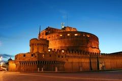 Roma na noite, Italy foto de stock royalty free
