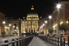 Roma in the night, Piazza san Pietro Stock Photography