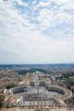Roma, o quadrado de St Peter Fotos de Stock Royalty Free