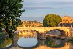 roma O Umberto que eu construo uma ponte sobre Foto de Stock Royalty Free