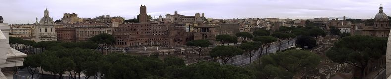 Roma, the old city. This is a big panorama in Roma Royalty Free Stock Image