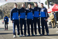 Roma Ostia Marathon Participants fotografia de stock royalty free