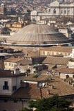 Roma, paesaggio di panorama di vista aerea del panteon fotografia stock libera da diritti