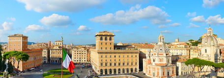 Roma panoramic view, Italy Royalty Free Stock Photo