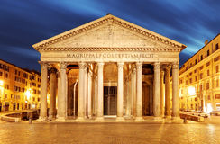 Roma - panteón en la noche fotos de archivo libres de regalías