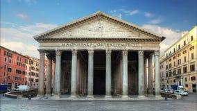 Roma - panteón, lapso de tiempo Fotografía de archivo