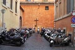 Roma, parcheggiante Fotografia Stock Libera da Diritti