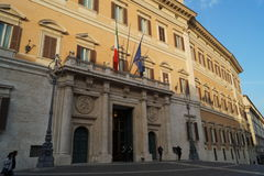 Roma Parliament Royalty Free Stock Images