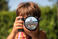 Roma pelos olhos de uma criança Imagem de Stock Royalty Free