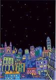 Roma pendant la nuit étoilée illustration de vecteur
