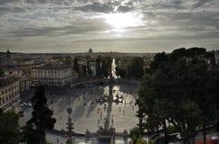 Roma, Piazza del Poppolo Immagine Stock Libera da Diritti