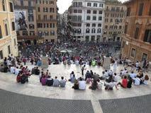 Roma, Piazza di Spagna fotografie stock