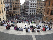 Roma, Piazza di Spagna Fotos de archivo