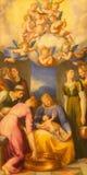 Roma - pittura della purificazione della nostra signora dal d'Arpino di Cavaliere (1627) in chiesa Chiesa Nuova (Santa Maria in V Immagini Stock
