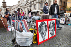 Roma - plaza Navona Imagen de archivo libre de regalías