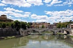 Roma, Ponte V emanuele Imagem de Stock Royalty Free