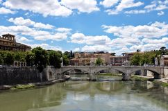 Roma, Ponte V emanuele Immagine Stock Libera da Diritti