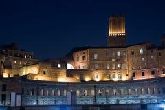 Roma por noche Imágenes de archivo libres de regalías