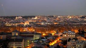 Roma por noche Italia 4K almacen de metraje de vídeo