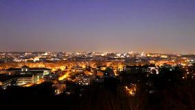 Roma por noche Italia 4K metrajes