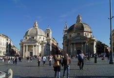Roma Praça del Popolo fotografia de stock royalty free