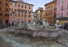 Roma - Praça di Navona Fotografia de Stock
