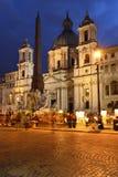 Roma, praça Navona Fotografia de Stock