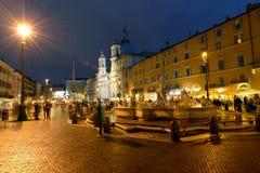 Roma, praça Navona Fotos de Stock Royalty Free