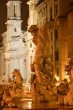 Roma, praça Navona fotos de stock