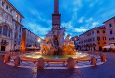 roma Quadrado de Navona Praça Navona fotografia de stock