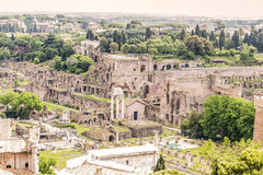 Roma/  Roman Forum. The Roman Forum (Forum Romanum) was the central area of the city around which ancient Rome developed Stock Image
