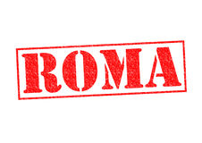 ROMA Rubber Stamp Royaltyfria Foton
