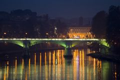 Roma's bridge. A bridge over the Tiber, the Roman river Stock Images