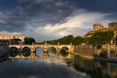 Roma's bridge Royalty Free Stock Photo