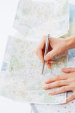 Roma's map Stock Photography