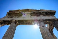 Romańska agora Ateny, Grecja Zdjęcie Stock