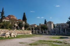 Romańska agora i wierza wiatry Ateny, Obraz Royalty Free