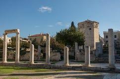 Romańska agora i wierza wiatry athens Obraz Stock