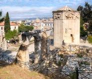 Romańska agora i wierza wiatry w Ateny, Grecja Zdjęcie Stock