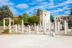 Romańska agora przy Ateny Obrazy Royalty Free