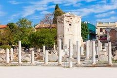 Romańska agora przy Ateny Obraz Stock