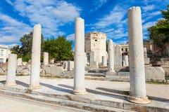 Romańska agora przy Ateny Obraz Royalty Free