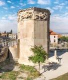 Romańska agora, wierza wiatry w Ateny, Grecja Obrazy Royalty Free