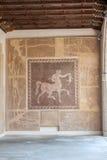 Romańska centaur mozaika Rhodes Grecja Zdjęcia Stock