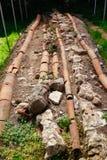 Romańska instalaci wodnokanalizacyjnej ekskawacja w Gonio fortecy Fotografia Stock