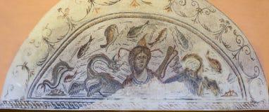Romańska mozaika przedstawia bogini Tethys Zdjęcie Stock