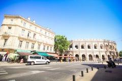 Romański amfiteatr w Nimes, Provence Zdjęcie Royalty Free