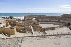 Romański amphitheatre, Tarragona, Hiszpania Zdjęcia Royalty Free