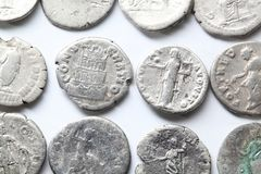 Romański denarius Zdjęcia Stock