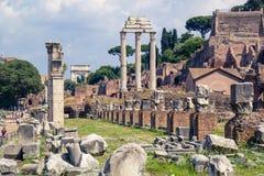 Romański forum na palatynu wzgórzu Zdjęcia Stock